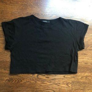 Black Crop Top - Size M